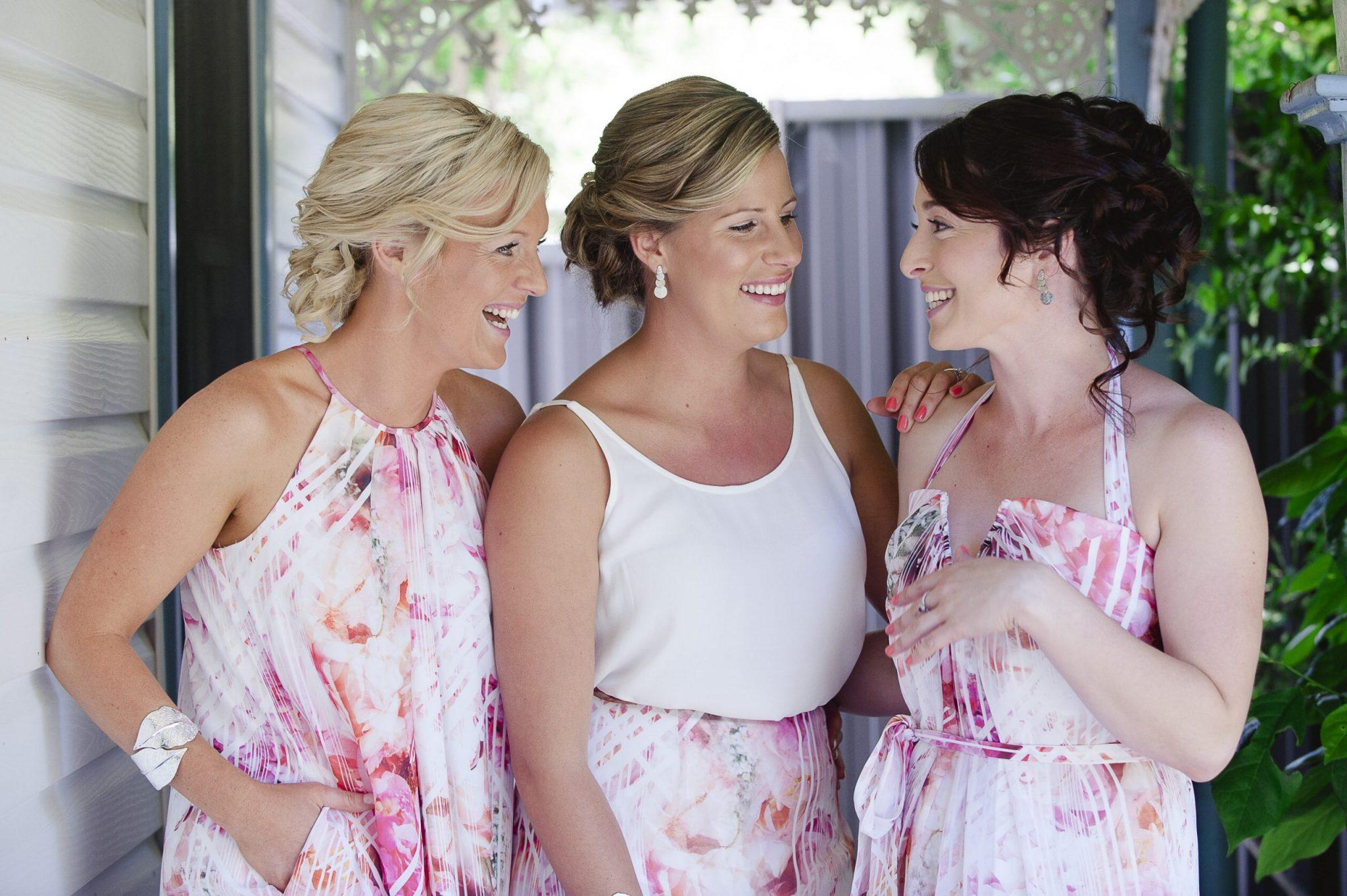 bridesmaids, wedding flowers, vintage suitcase, Daylesford wedding, country wedding, vintage wedding