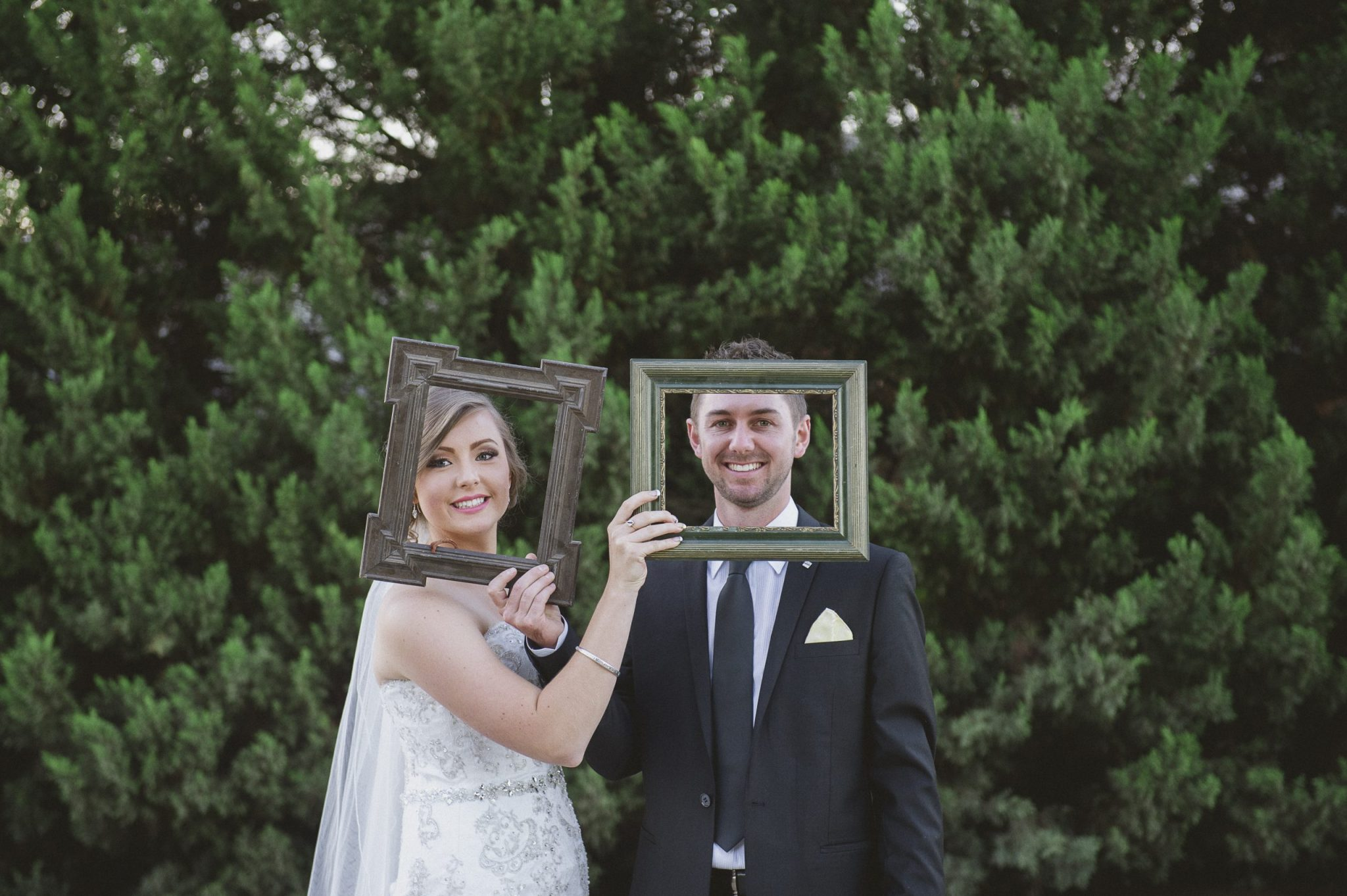 bride and groom props