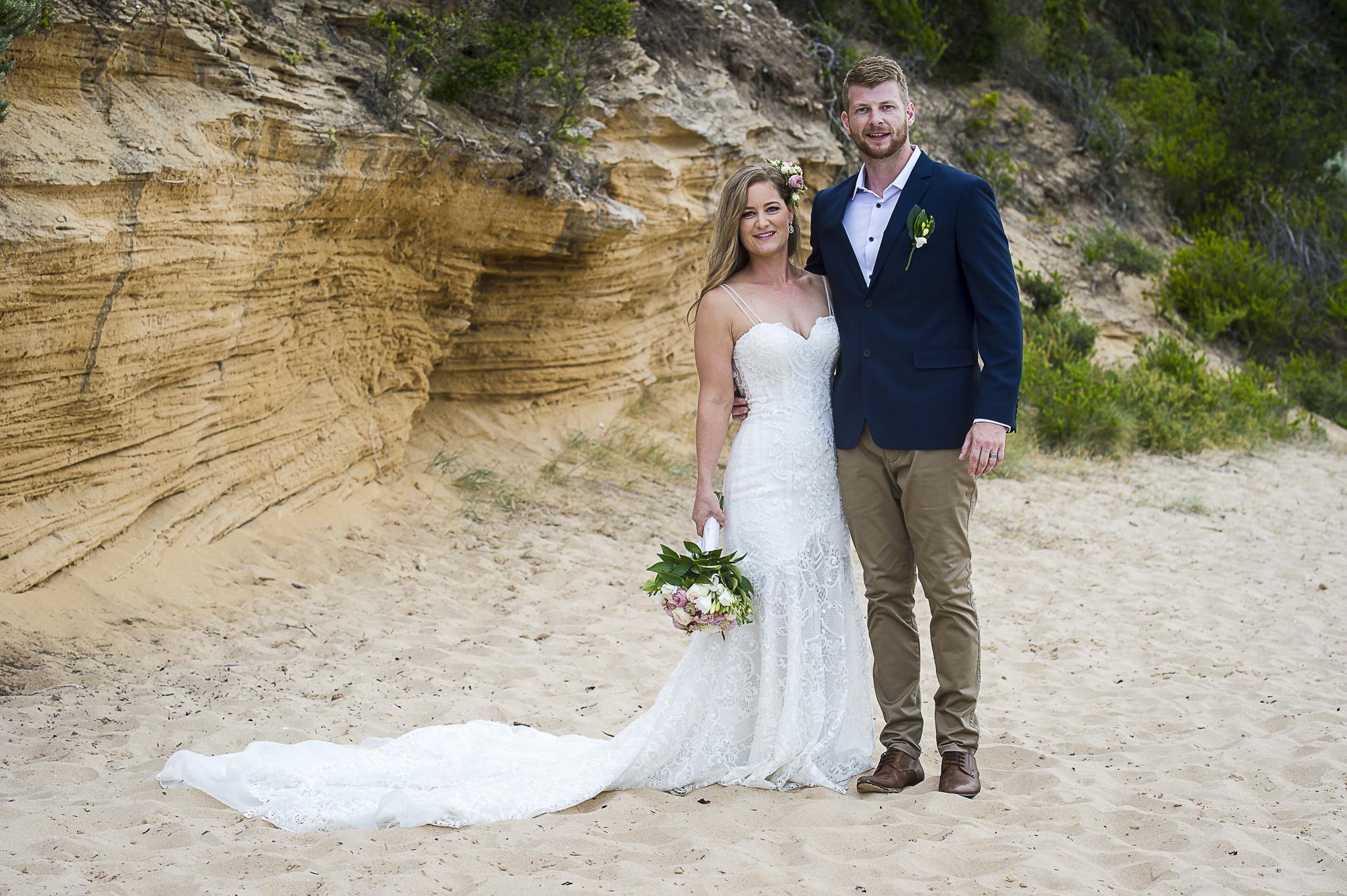 Peninsula beach wedding